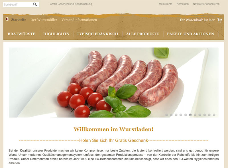 Online-Shop-Wurstladen